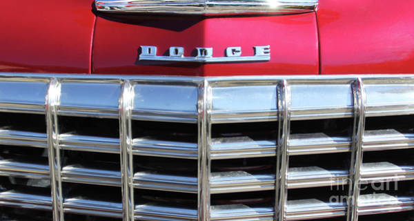 Photograph - 1947 Dodge Grille by Jennifer Robin