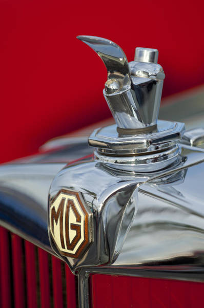 Tc Photograph - 1947 Mg Tc Non-standard Hood Ornament by Jill Reger