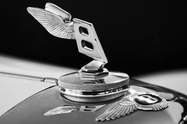 Photograph - 1948 Bentley Hood Ornament 3 by Jill Reger
