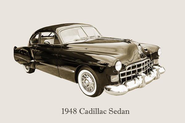 Photograph - 1948 Cadillac Sedan Classic Car Photograph 6722.01 by M K Miller