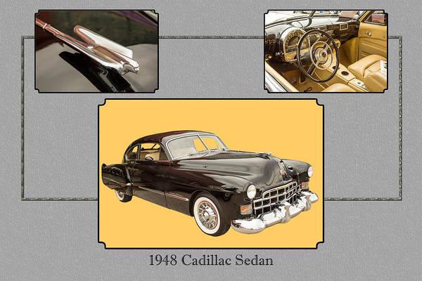 Photograph - 1948 Cadillac Sedan Classic Car Photograph 6723.02 by M K Miller