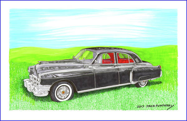 Wall Art - Painting - 1948 Cadillac Series 62 Fleetwood Sedan by Jack Pumphrey