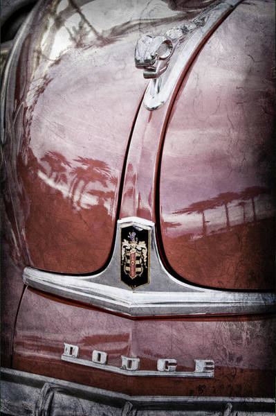 Wall Art - Photograph - 1948 Dodge Ram Hood Ornament - Emblem -0417ac by Jill Reger