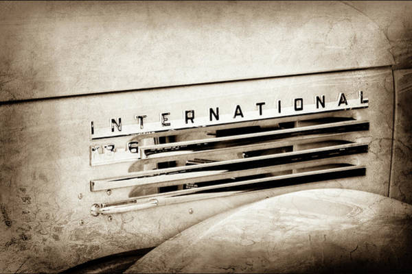 Photograph - 1948 International Emblem -0223s by Jill Reger