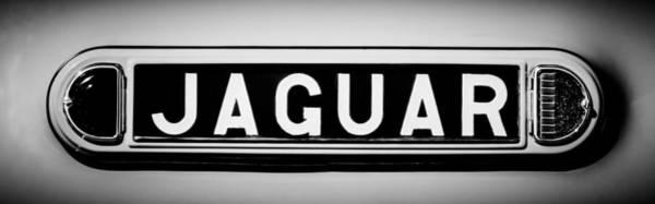 Photograph - 1948 Jaguar 2.5 Litre Drophead Coupe Emblem - 0036bw2 by Jill Reger