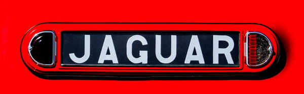Photograph - 1948 Jaguar 2.5 Litre Drophead Coupe Emblem - 0036c2 by Jill Reger