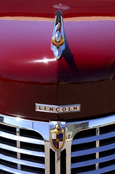 Photograph - 1948 Lincoln Continental Hood Ornament 3 by Jill Reger