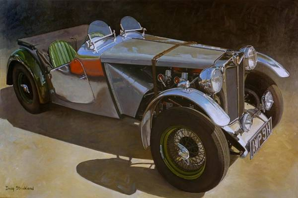 Wall Art - Painting - 1948 M G  Racer by Doug Strickland