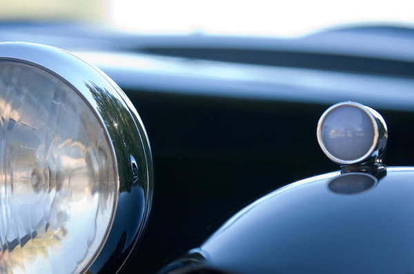 Tc Photograph - 1948 Mg Tc Head Light by Jill Reger