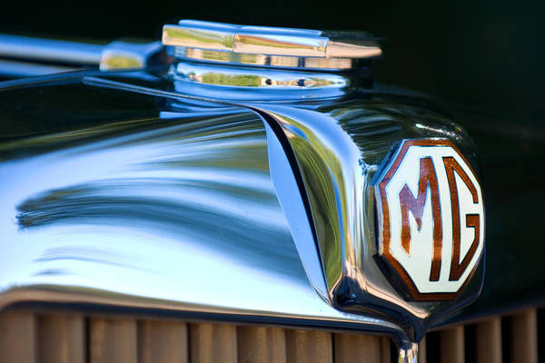 Tc Photograph - 1948 Mg Tc Hood Ornament by Jill Reger