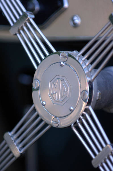 Tc Photograph - 1948 Mg Tc Steering Wheel 2 by Jill Reger