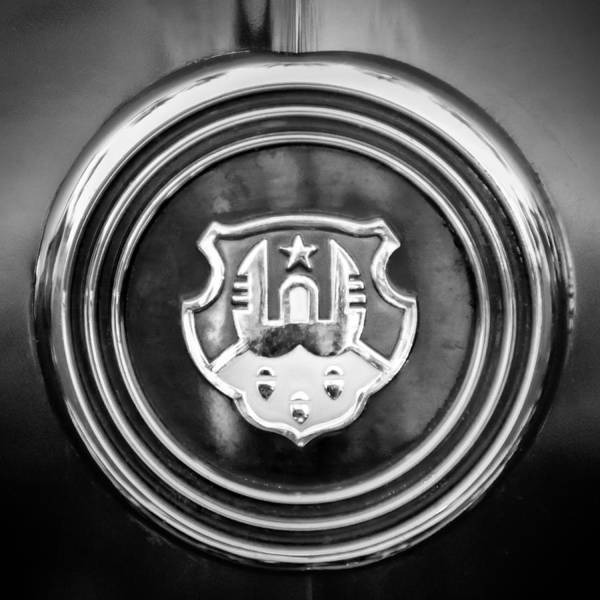 Photograph - 1948 Oldsmobile Emblem -0154bw1 by Jill Reger