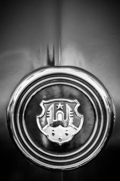 Photograph - 1948 Oldsmobile Emblem -0154bw2 by Jill Reger