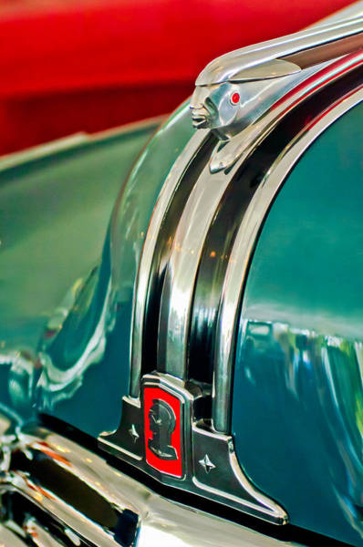 Photograph - 1948 Pontiac Streamliner Woody Wagon Hood Ornament by Jill Reger