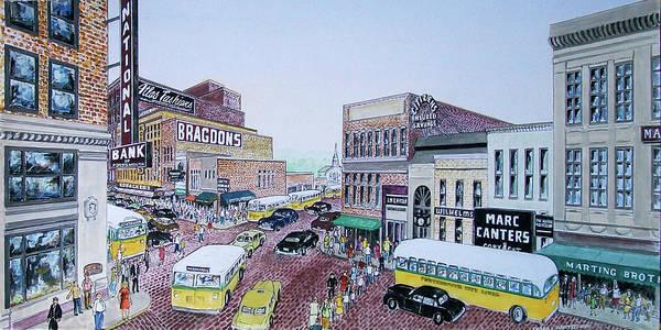 Rush Hour Portsmouth Ohio 1948 Art Print