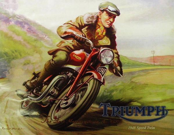 Digital Art - 1948 Triumph Speed Twin by Bill Cannon