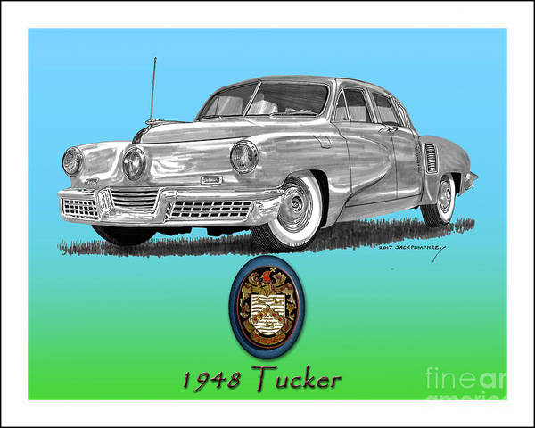 Developed Painting - 1948 Tucker by Jack Pumphrey