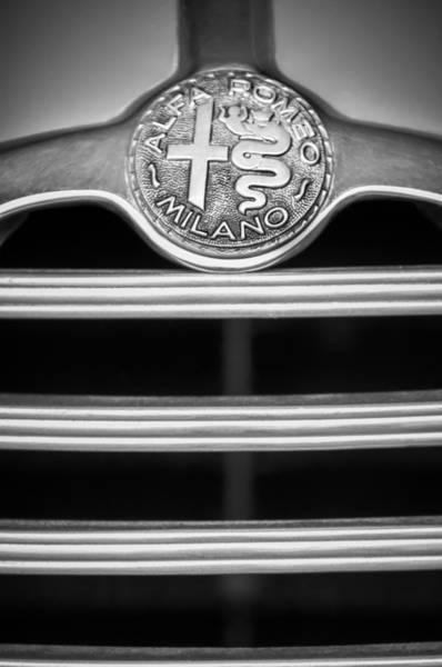 Photograph - 1949 Alfa-romeo 6c 2500 Ss Pininfarina Cabriolet -1756bw by Jill Reger