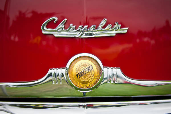 Photograph - 1949 Chrysler Town And Country Convertible Emblem by Jill Reger