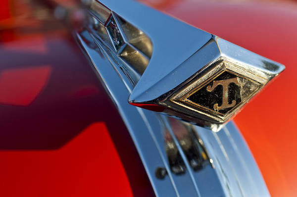 Photograph - 1949 Diamond T Truck Hood Ornament 2 by Jill Reger