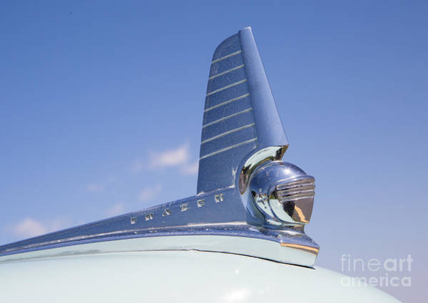 Photograph - 1949 Frazer Manhattan Hood Ornament by Kevin McCarthy