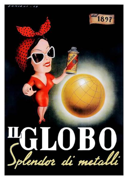 Dolce Wall Art - Digital Art - 1949 Il Globo Italian Advertising Poster by Retro Graphics