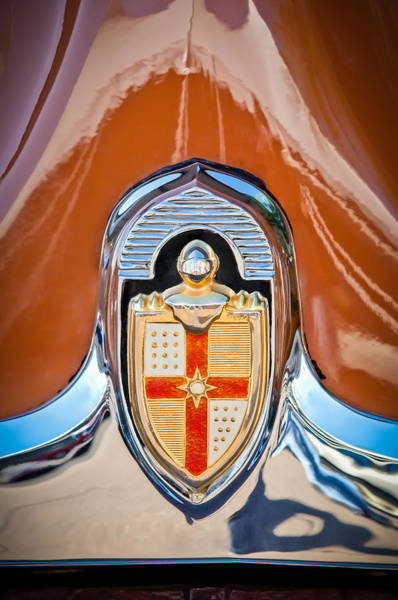 Photograph - 1949 Lincoln Coupe Hood Ornament -0929c by Jill Reger