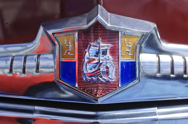 Plymouth Photograph - 1949 Plymouth P-18 Special Deluxe Convertible Emblem by Jill Reger