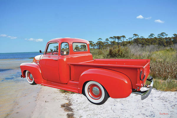 Photograph - 1949 Red Chevy Truck by Ericamaxine Price