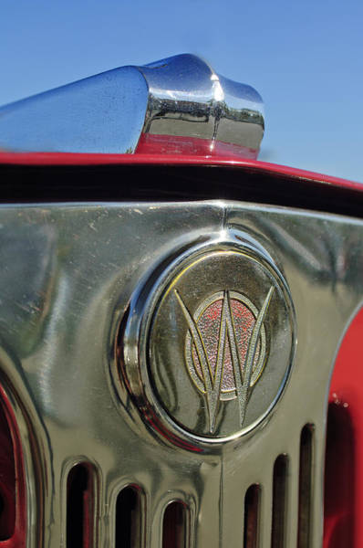 Photograph - 1949 Willys Jeepster Hood Ornament by Jill Reger