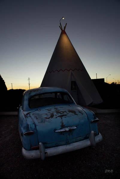 Photograph - 1950 Blue Ford by David Gordon