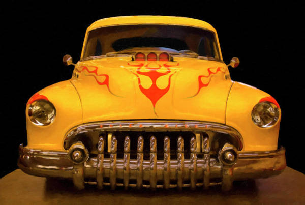 Painting - 1950 Buick Sedanette Digital Oil by Chris Flees