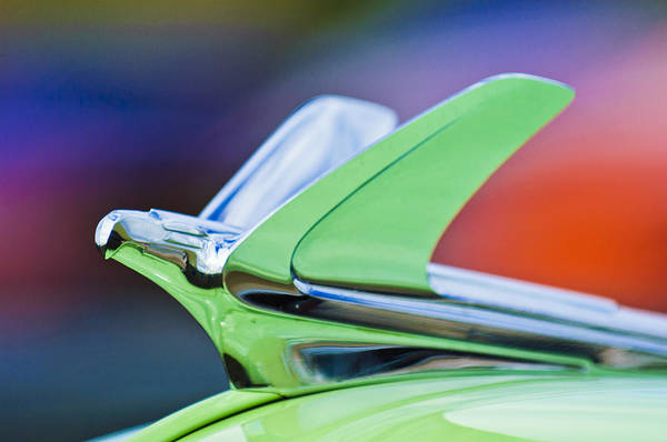 Photograph - 1950 Chevrolet Belair Hood Ornament by Jill Reger