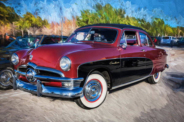 Dual Exhaust Photograph - 1950 Ford 2 Door Crestliner Painted    by Rich Franco