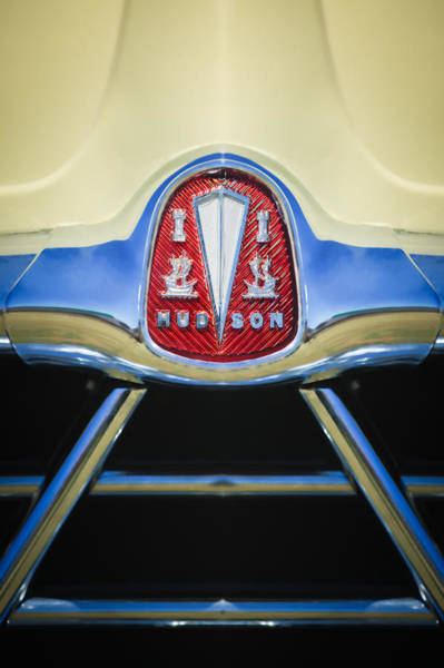 Photograph - 1950 Hudson Commodore Grille Emblem -0759c by Jill Reger