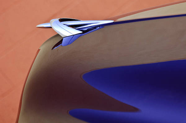 Photograph - 1950 Mercury Club Coupe Hood Ornament by Jill Reger