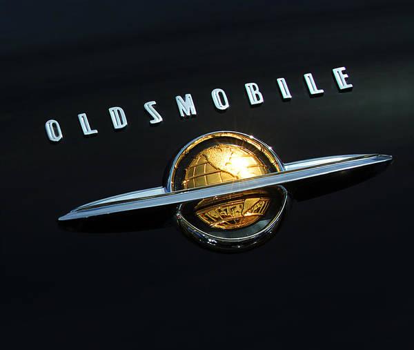 Photograph - 1950 Oldsmobile Rocket 88 Convertible Emblem by Jill Reger