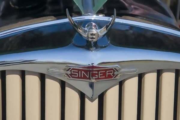 Digital Art - 1950 Singer 9 Roadster Hood Ornament by Chris Flees