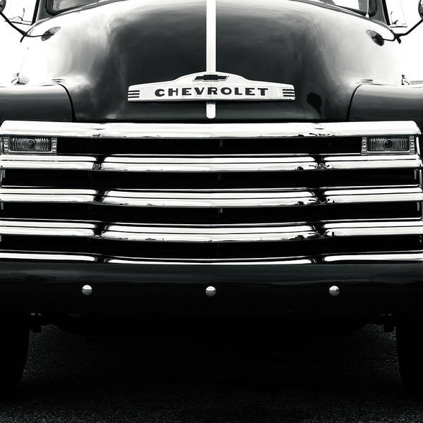 Pickup Man Photograph - 1950s Chevy Work Truck Grille Detail by Jon Woodhams