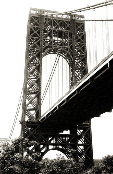 Photograph - George Washington Bridge 1950 by Marilyn Hunt