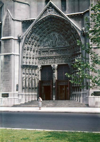 Photograph - 1950s Riverside Church New York Doorway by Marilyn Hunt