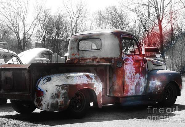 Wall Art - Photograph - 1950s Truck  Patina  by Steven Digman