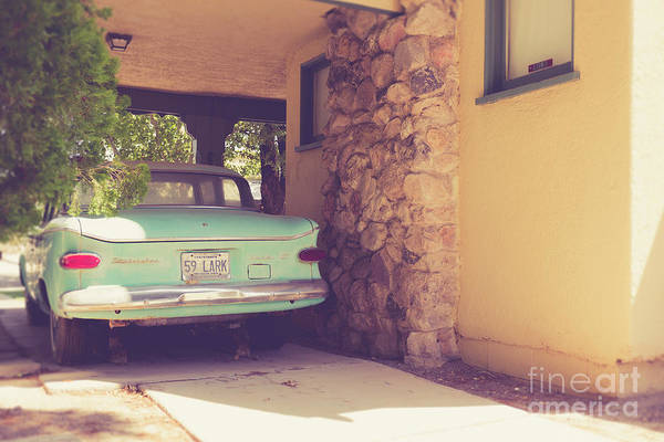 Wall Art - Photograph - 1950s Vintage Car And Home by Edward Fielding