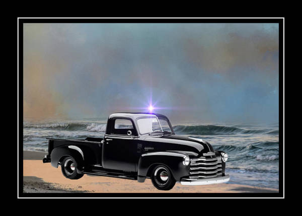 Photograph - 1951 Black Chevy Truck by Ericamaxine Price