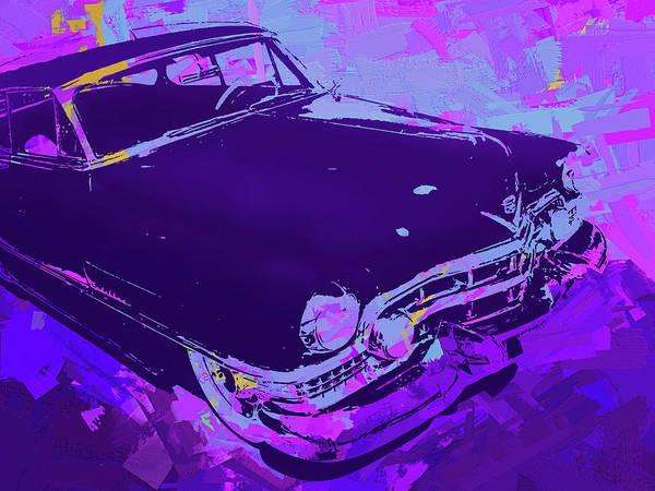 Digital Art - 1951 Cadillac Pop Violet by David King
