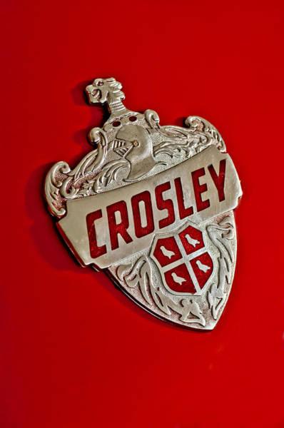 Photograph - 1951 Crosley Hood Emblem by Jill Reger