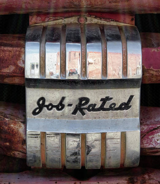 Wall Art - Photograph - 1951 Job Rated Dodge Grill Plate by Daniel Hagerman