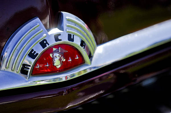 Photograph - 1951 Mercury Coupe Hood Ornament by Jill Reger