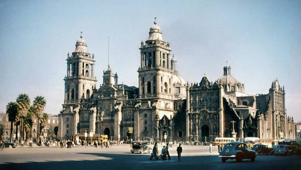 Photograph - 1951 Metropolitan Cathedral Mexico City by Marilyn Hunt