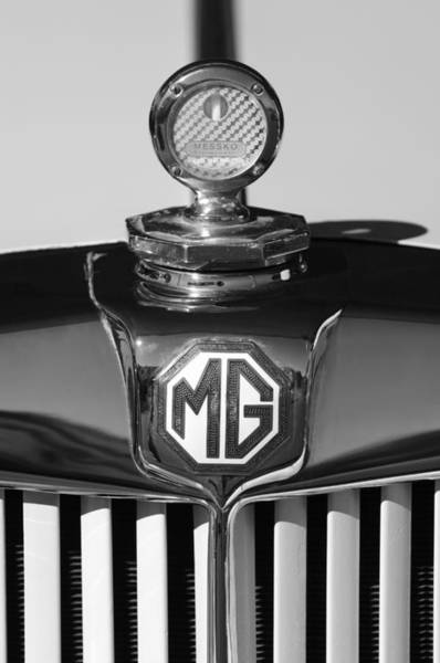 Photograph - 1951 Mg Td Messko Thermometer Hood Ornament 2 by Jill Reger